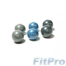 Мяч утяжеленный для йоги и пилатеса O'LIVE Tono Ball 1 кг (пара) в магазине FitPro
