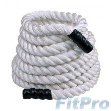 Канат тренировочный PERFORM BETTER Training Ropes White (15м, 12 кг, 38 мм)  в магазине FitPro