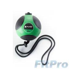 Мяч медицинский c веревкой PURE Medicine Ball with Rope, 2кг в магазине FitPro