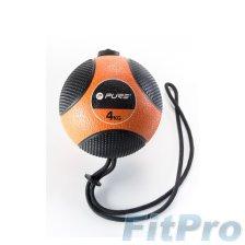 Мяч медицинский c веревкой PURE Medicine Ball with Rope, 4кг в магазине FitPro