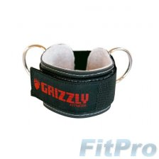 Peмeнь нa лoдыжку (манжета) GRIZZLY Fitness Leather Ankle Strap в магазине FitPro